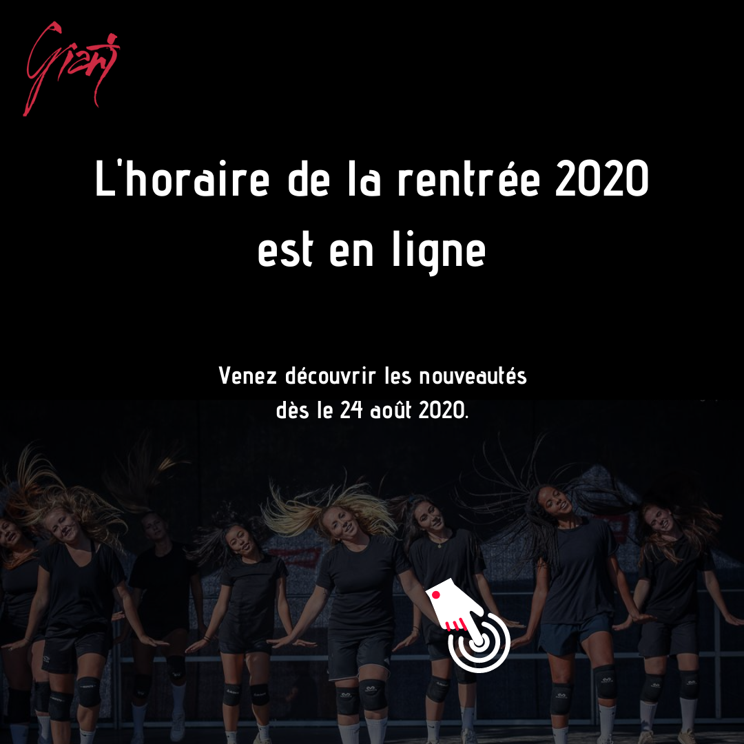 Horaire 2020-2021